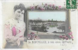 De Montpellier Je Vous Envoie Ces Fleurs - E.A. Paris - Souvenir De...