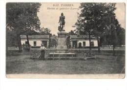 C P A---65---TARBES---statue Et Quartier Larrey ---voir 2 Scans - Tarbes