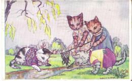 PC Chat, Chaton, Katze, Cat, Kitten, Crab Fishing, La Pêche Au Crabe, Krabbenfischen, By Doreen M.Parr - Katten