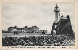 Le PHARE à Marée Basse Et Le Casino - TROUVILLE - Phares