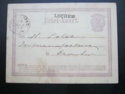 1872 ,  LOCHEM  ,  Briefkaart - Postal Stationery