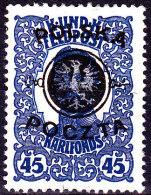 POLAND 1918 Lublin Fi19 Mint No Gum Signed Korszen - Unused Stamps