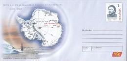 629FM- ANTARCTIC TREATY ANNIVERSARY, SHIP, COVER STATIONERY, 2009, ROMANIA - Trattato Antartico
