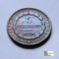 Italia - Sardinia - 5 Centésimi - 1826 - Sin Clasificación