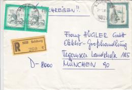 WINDMILL, SAILING BOATS, STAMPS ON REGISTERED COVER, 1981, AUSTRIA - 1945-.... 2ª República