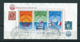 1982 Netherlands Antilles Complete M/Sheet Philexfrance'82 Used/gebruikt/oblitere - Curacao, Netherlands Antilles, Aruba