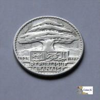Libano - 25 Piastras - 1929 - Líbano