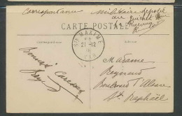 2414- Carte Postale Franchise Militaire Guerre 1914/1918 - 451 Sainte Maxime Le Pin De Bertaud - Marcophilie (Lettres)