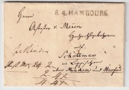 """1811, """" R.4 HAMBOURG """" Nach Preußen  ,  #1003 - Hamburg"""