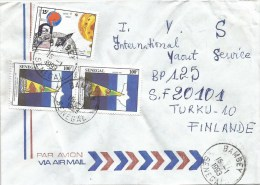 Senegal 1993 Bambey Fishing Maritime Life Space John Glenn Orbital Cover - Brieven & Documenten