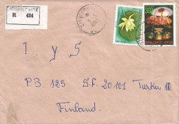 Senegal 1983 Ziguinchor Space Operation Viking Lander Water Lily Registered Cover - Brieven & Documenten
