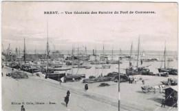 Cpa BREST Vue Generale Des Bassins Du Port De Commerce - Brest