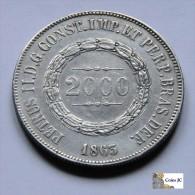 Brasil - 2000 Reis - 1863 - Brasil
