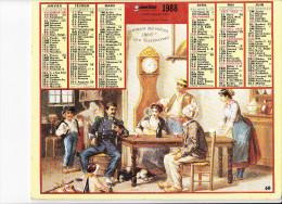 Almanach Des PTT 1988,Le Retour Du Militaire En 1888, Meunier / Au Jardin Public En 1888, Enfants Cerceau OBERTHUR - Calendriers