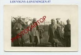 LOUVIGNY-LOVENINGEN-Prisonniers-Carte Photo Allemande-Guerre 14-18-1WK-France-57- - Metz Campagne