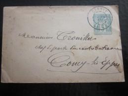 Entier Postal Entiers Postaux Cachet à Date Départ Orléans Télégraphe Pr Contributions Indirecte Coucy-les Eppes 01 - Enveloppes Types Et TSC (avant 1995)