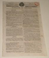 Gazette De France Du 3 Février 1818,n°=34. (Abandon D'un Enfant Par Un Officier De L'armée De Vendée...) - Journaux - Quotidiens