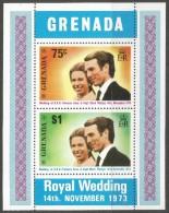 Grenadine Of Grenada. 1973 Royal Wedding.  MH Miniature Sheet. - Grenada (...-1974)