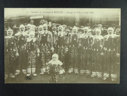 Souvenir du Carnaval de Binche Groupe de Gilles et petit Gille