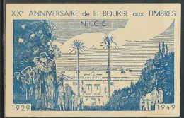 FRANCE CARTE MAXIMUM (maximum Card ) - 2888 - N°  75e Anniversaire De L'U.P.U. BOURSE AUX TIMBRES NICE 1949 - 1940-49