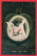 "157803 / Angel , Ange , Engel , "" L'AMOUR , LIEBE , LOVE "" HEART WOMAN FLOWERS - GLCo 1022/2 SOFIA Bulgaria Bulgarie - Angeles"