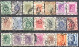 _4Zw607: Restje Van 21 Zegels...diverse HONGKONG.....om Verder Uit Te Zoeken... - Hong Kong (...-1997)