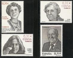 2008-ED. 4417 A 4420-COMPLET-PERSONAJES LITERATURA Y CIENCIA. Zenobia Camprubí. M. Lejárraga, C. Martín Gaite Y Joan Oró - 2001-10 Neufs