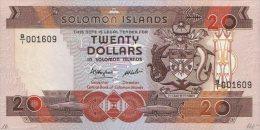 Solomon Islands 20 Dollars 1986 Pick 16 UNC - Salomons