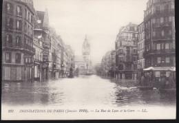 CPA - (75) Paris - Inondations De Paris - La Rue De Lyon Et La Gare (carte Recoupée) - La Crecida Del Sena De 1910