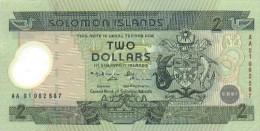 Solomon Islands 2 Dollars 2001 Pick 23 UNC - Salomons
