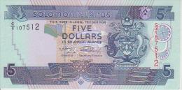Solomon Islands 5 Dollars 2004 Pick 26 UNC - Salomons
