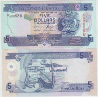 Solomon Islands 5 Dollars 2004 Pick 26 Replacement UNC - Salomons