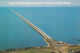 Lake Pontchartrain Causeway Worlds Longest Bridge New Orleans Lo
