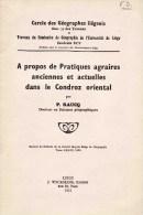 Pratiques Agraires Dans Le Condroz Oriental  RAUCQ Comblain Aywaille Fraiture Filot Xhoris Sprimont ... - Culture