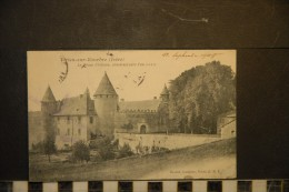 CP, 38, VIRIEUX SUR BOURBRE Le Vieux Chateau Construit Vers L'An 1010 Edition Boulud Buraliste Virieu RARE Plan - Virieu