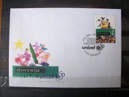 FDC Slovenia Slovenija 1996 UNICEF - Slovénie