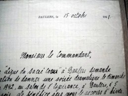 Baulers 1941 guerre kommandantur Nivelles
