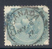 INDIA, Squared Circle Postmark ´COCONADA ´ On Q Victoria Stamp - 1882-1901 Empire