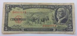 CUBA 5 PESOS 1958 VF - Cuba