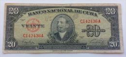 CUBA 20 PESOS 1949 VF - Cuba