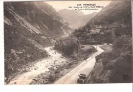 Luz-Saint-Sauveur-Htes- Pyrénées- +/-1920-Route De Gavarnie-Ravin De Caoussiou-Oldtimer-Vieille Voiture - Luz Saint Sauveur