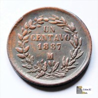 México - 1 Centavo - 1887 - Mexiko