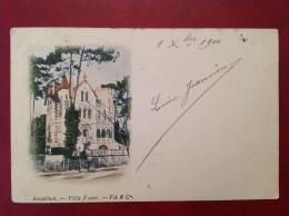 33 Gironde  ARCACHON Villa Faust (couleur) DND 1900 + Cad Sur Sage - Arcachon
