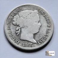 España - Isabel II - 40 Cts De Escudo - 1866 - [ 1] …-1931 : Reino