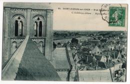 """SAINT-AIGNAN-sur-CHER-1911-D'un Clocher à...n°84 éd Godeberge-Beau Cachet Ambulant"""" Vierzon à Tours""""-pas Très Courante - Saint Aignan"""