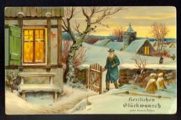 Herzlichen Gluckwunsch Zum Neuen Jahre / SB 2112 H ---- Postcard Traveled - Nouvel An