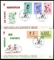 BE   FDC  1399 - 1403   ---   Solidarité : Jeux D'Enfants  --  Obl. Liège - FDC