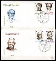 BE   FDC  1557 - 1560   ---   Philantropie : Personnalités - FDC