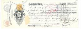 Soignies  ,   ( RM3 )   Reçu De  945,05  Fr   ( 1907 ) Des Carrière Du Nouveau Monde (pierre Bleu*pt Granit) - Documents