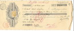 Soignies  ,   ( RM10 )   Reçu De  970,40  Fr   ( 1908 )  Carrières & Scieries De Petit Granit Gauthier & Cie - Documents